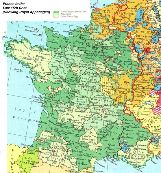 Map Of France 1500.Real Life Map Collection Mappery