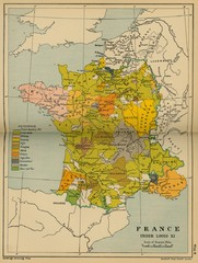 France Under Louis XI Historical Map