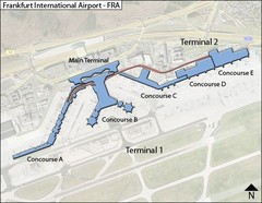 Frankfurt Airport Map