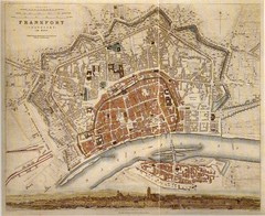 Frankfurt City Map 1840