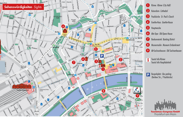 Frankfurt Tourist Map Frankfurt Germany mappery – Munich City Map Tourist