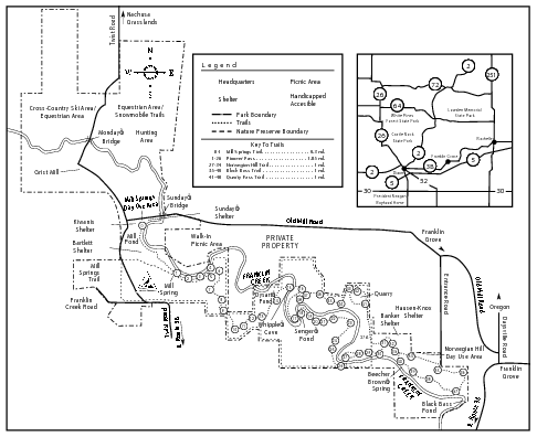Franklin Creek, Illinois Site Map