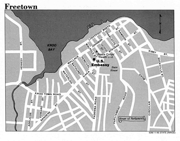 Freetown City Map kroo bay mappery