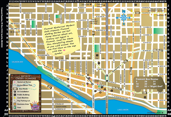 Fremont Walking Tour Map Fremont Washington mappery – Tourist Map Of Seattle