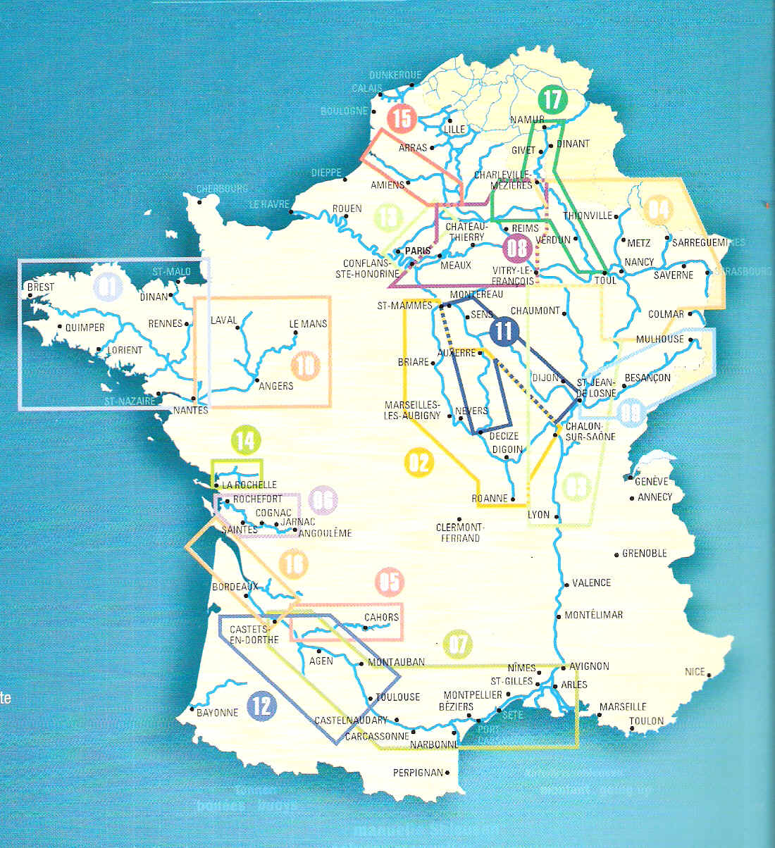 French Canals Map France mappery