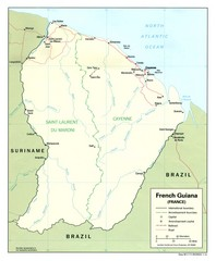 French Guiana Tourist Map