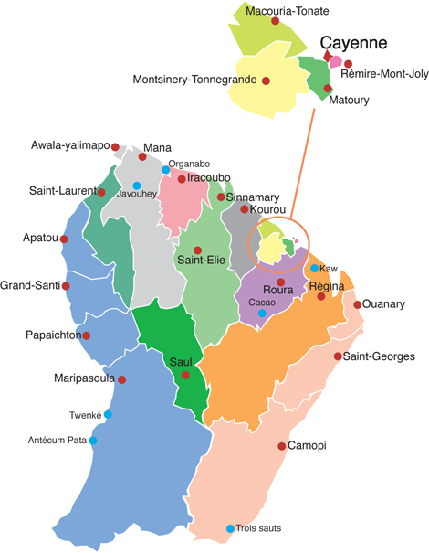 French Guiana political Map mappery