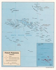 French Polynesia Tourist Map