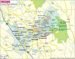 Fresno, California City Map