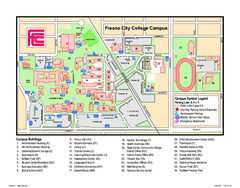 Fresno City College Campus Map