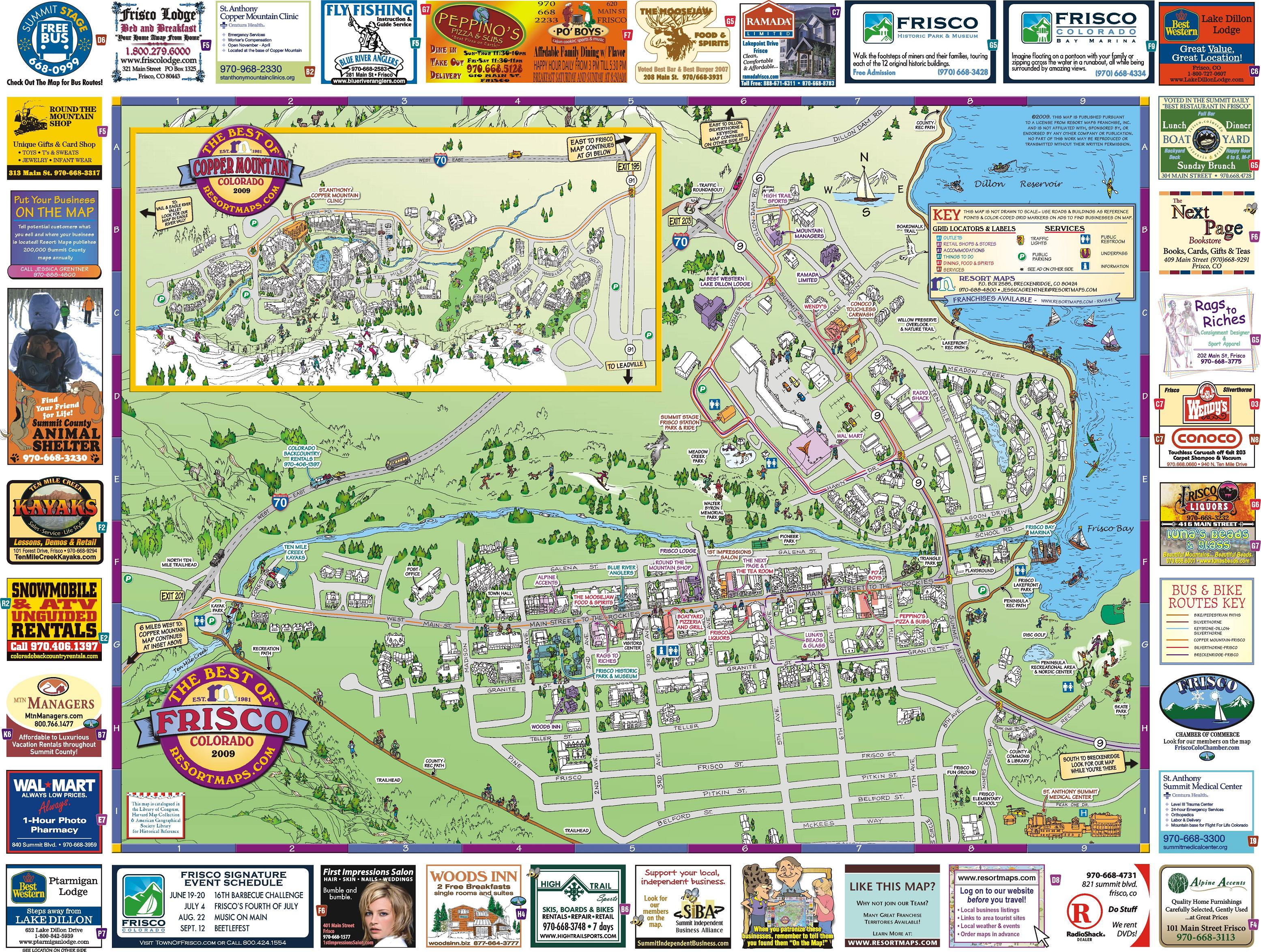Frisco CO Resort Map   FriscoCO amp Copper MountainCO • mappery