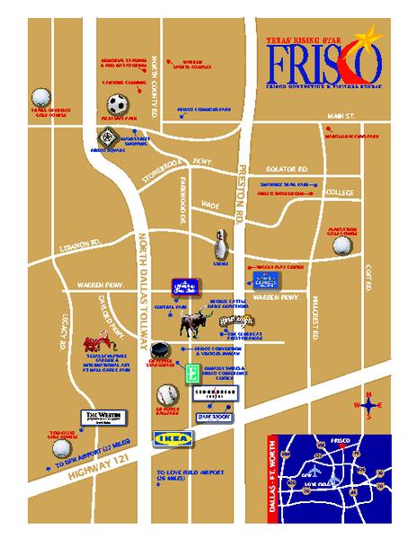 Art in Frisco Texas Map Frisco TX mappery