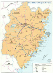 Fujian Province Tourist Map