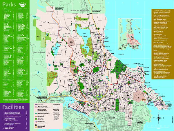 Full Map of Saanich Parks & Trails 2012