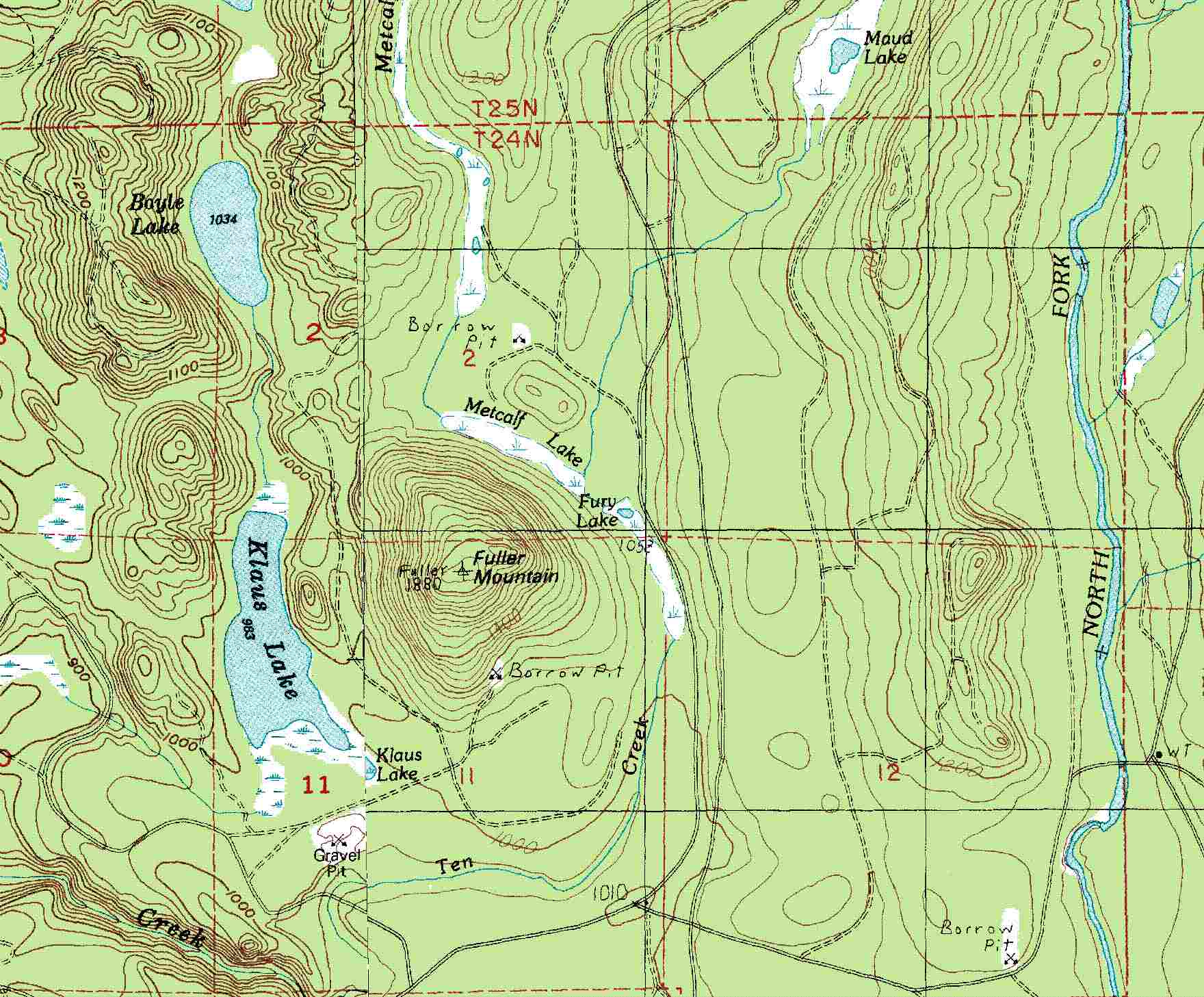 Fuller Mountain Topo Map Fuller Mountain Washington Mappery - Topo maps online