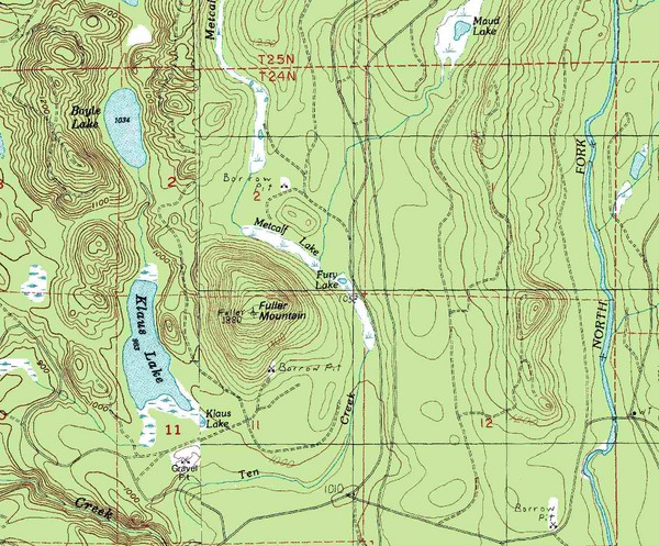Fuller Mountain Topo Map