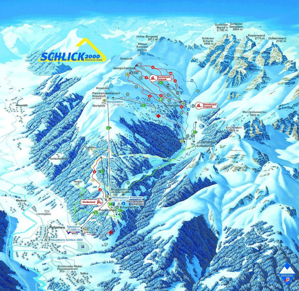 Fulpmes Ski Trail Map