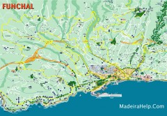 Funchal Madeira Map