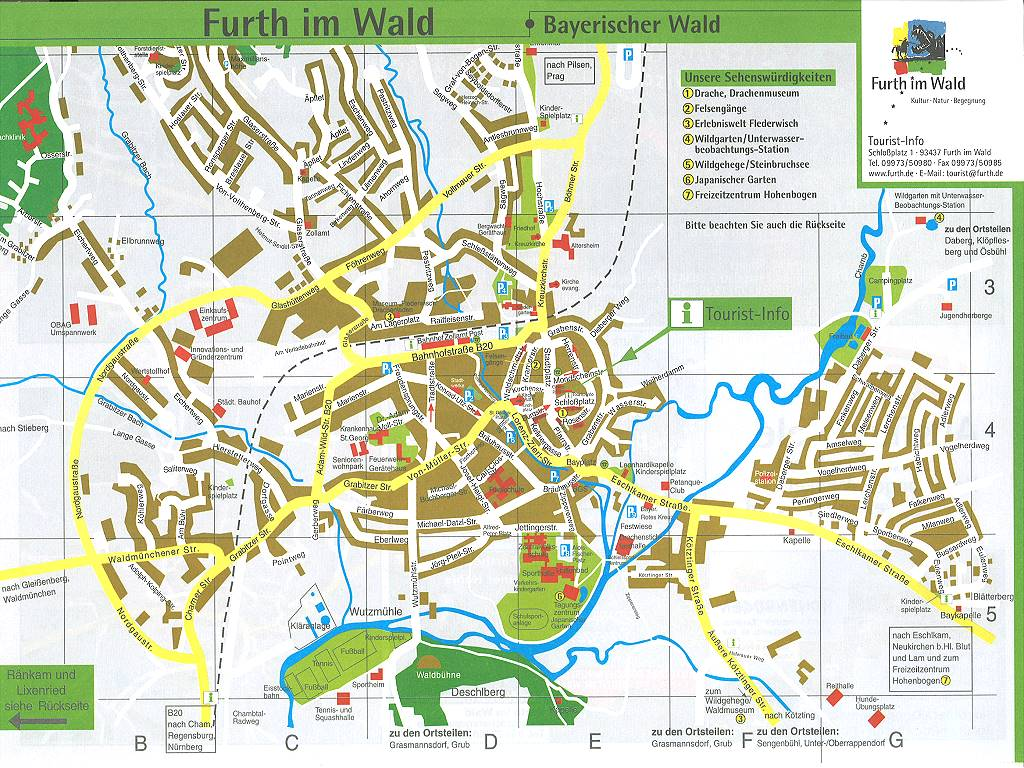 furth tourist map  furth germany • mappery -