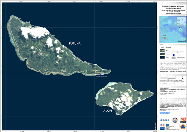 Futuna and Alofi Satellite Map - Futuna Island • mappery Alofi Map