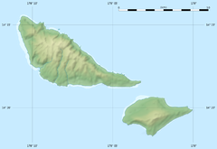 Futuna and Alofi blank relief Map