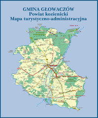 GLOWACZOW commune, PL Map