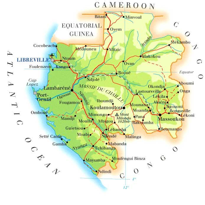 Gabon Map Mappery - Gabon map