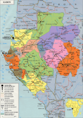 Gabon Regional Map