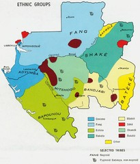 Gabon ethnic groups Map