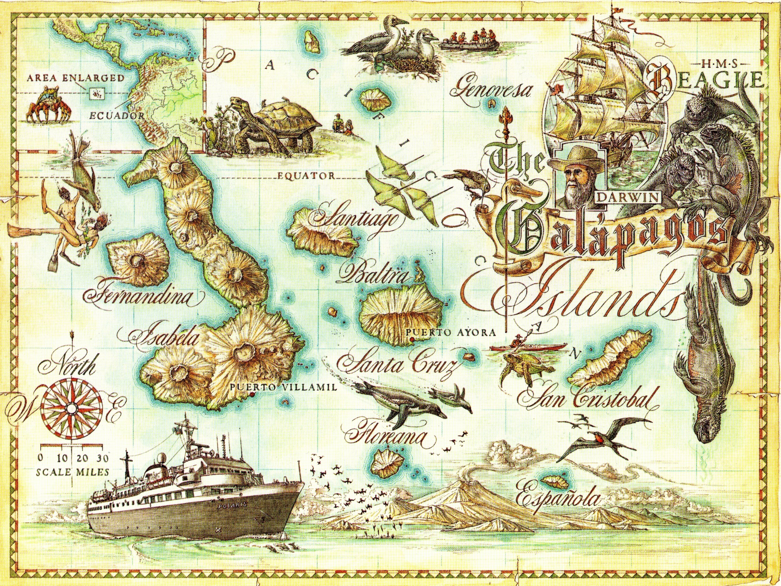 Galapagos Islands Map Galapagos Islands Mappery - Galapagos map