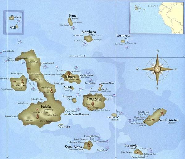 map of ecuador and the galapagos islands