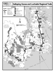 Galloping Goose and Lochside Regional Trails Map