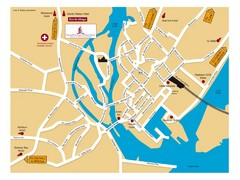 Galway, Ireland Tourist Map