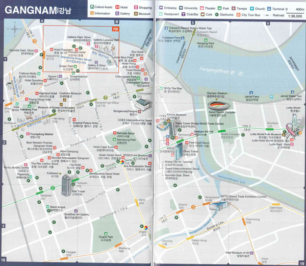 Gangnam Tourist Map