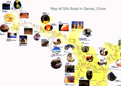 Gansu Silk Road Tourist Map