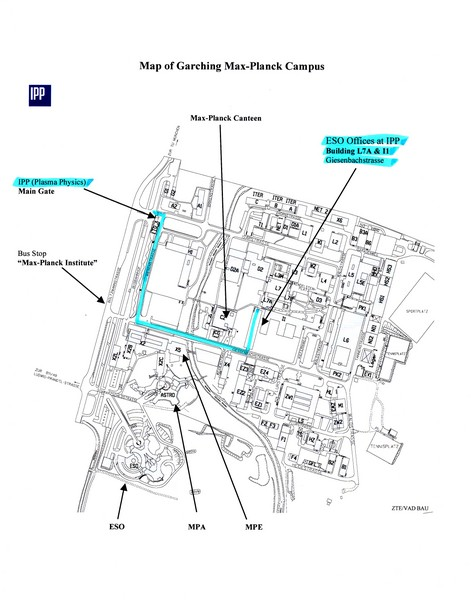 Garching Max-Planck Campus Map