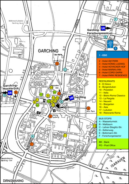 Garching Tourist Map
