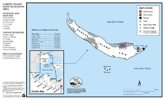 Garden Island State Recreation Area Map