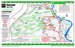 Garner, Texas State Park Hiking Trail Map