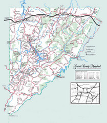 Garrett County, Maryland Guide Map