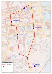 Gasworks/Belfast city centre shuttle Bus Map