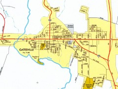 Gatesville City Map