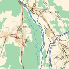 Gattinara Map