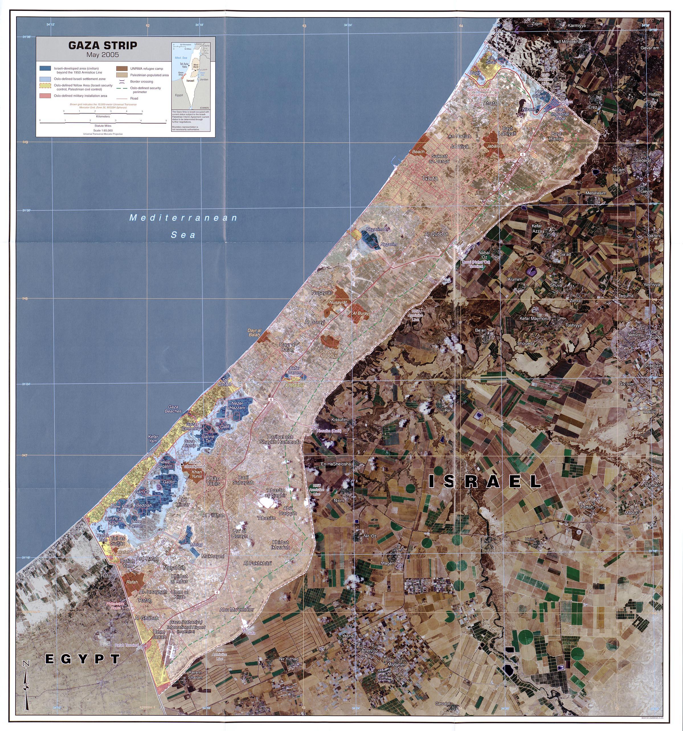 . gaza strip map  gaza strip • mappery