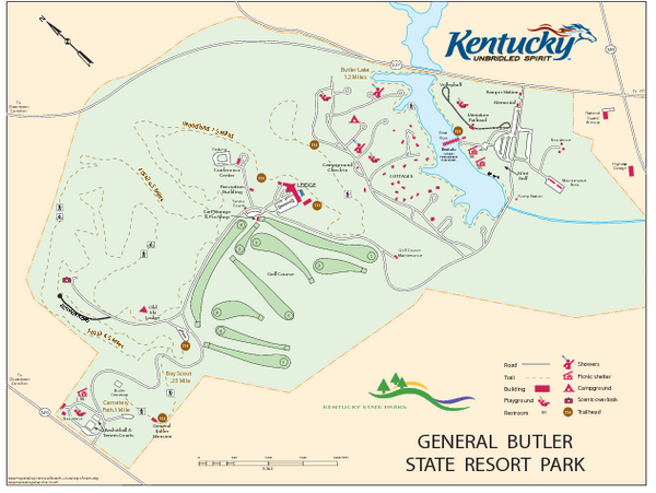 General Butler State Resort Park Map