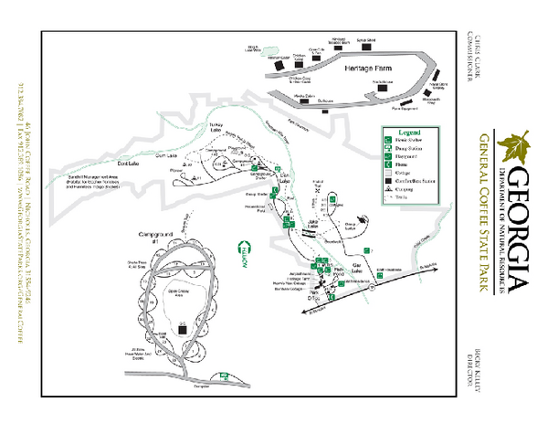 General Coffee State Park Map