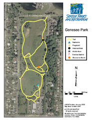 Genesee Park Trail Map