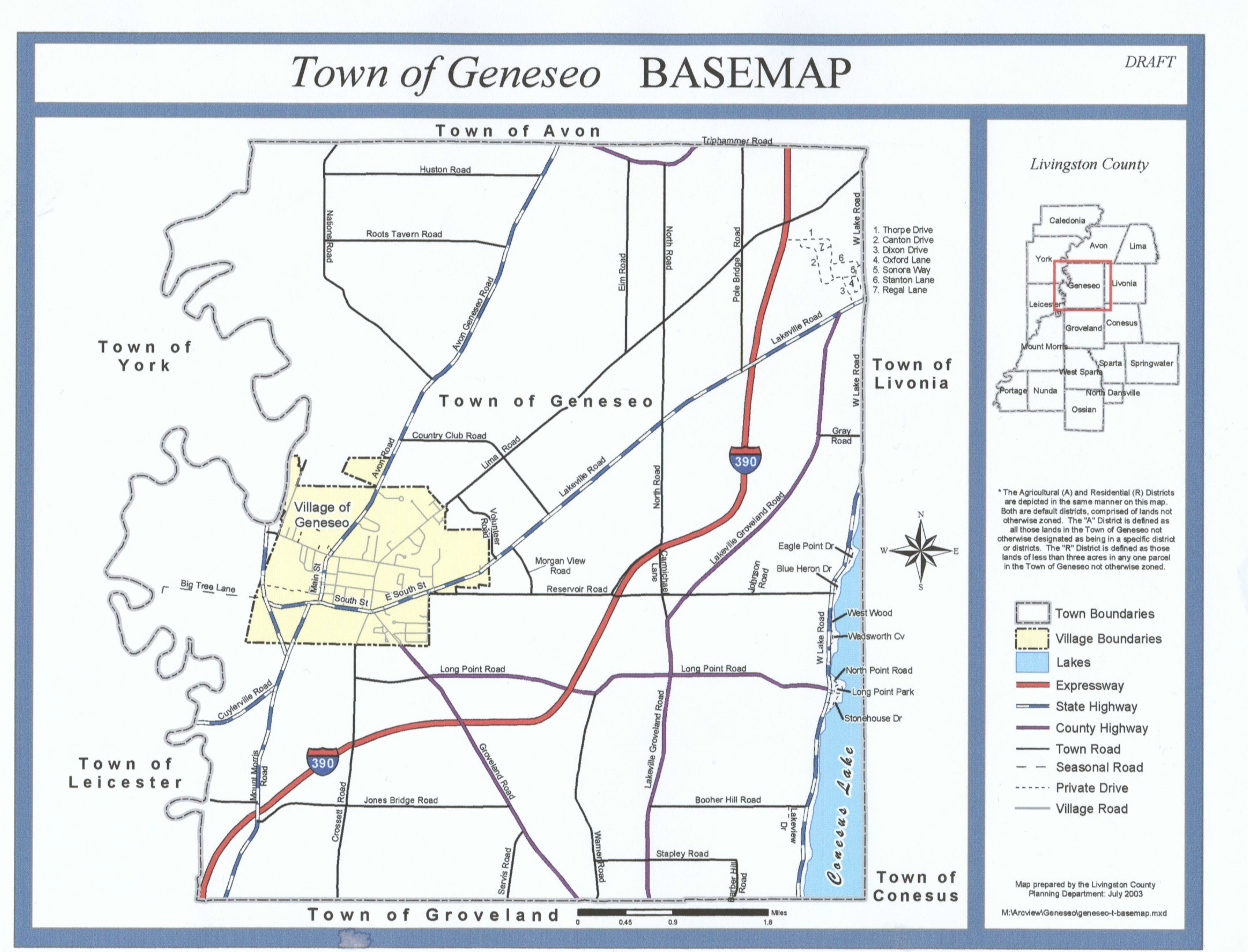 geneseo town map - geneseo ny • mappery