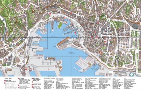 Genoa Tourist Map