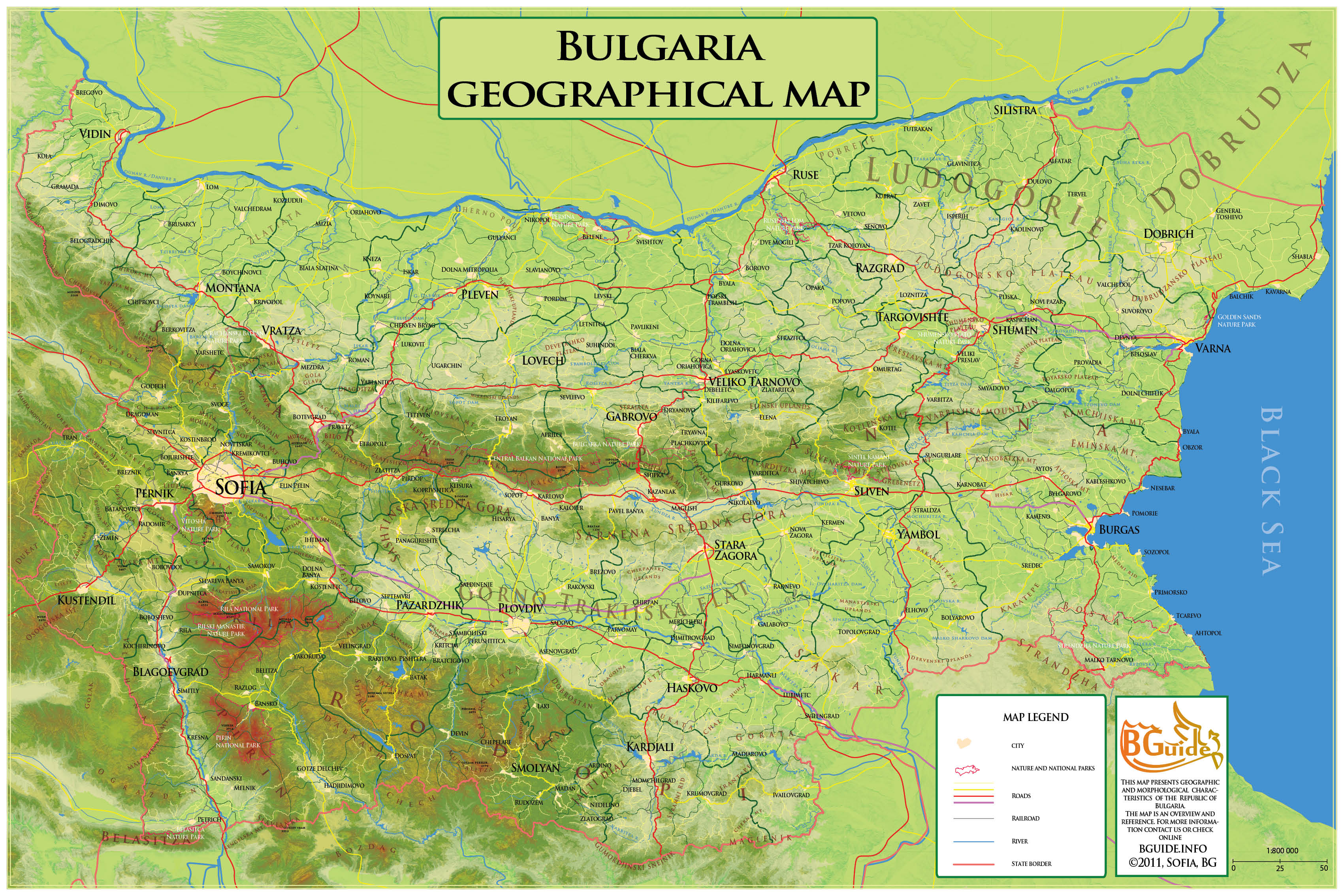 geographical map bulgaria bulgaria mappery